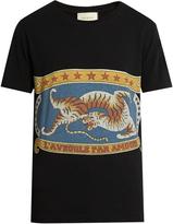 Gucci Circus-print short-sleeved cotton T-shirt