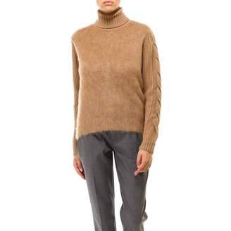 Max Mara Braided Effect Turtleneck Knitted Sweatshirt