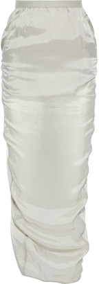 Rick Owens Pillar Split-back Satin-shell Maxi Skirt