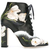 Dolce & Gabbana tulip print ankle boots