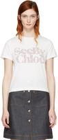 See by Chloe White Logo T-Shirt