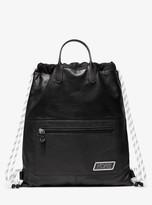 Greyson Leather Drawstring Backpack