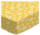 SheetWorld Extra Deep Fitted Portable / Mini Crib Sheet - Primary Floral Woven - Made In USA