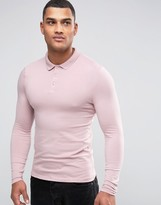 Asos Extreme Muscle Polo In Pink