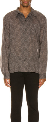 John Elliott Seville Shirt in Grey Paisley   FWRD