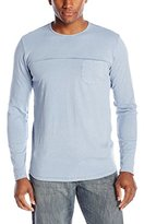Velvet by Graham & Spencer Men's Kylen Long Sleeve Crew Neck Tee In Vintage Wash