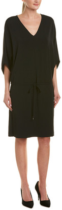 Lafayette 148 New York Drawstring Drop Waist Dress