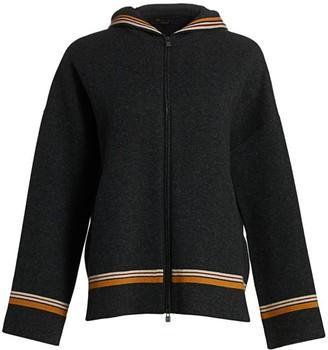 Loro Piana Suitcase Stripes Hooded Cashmere Jacket