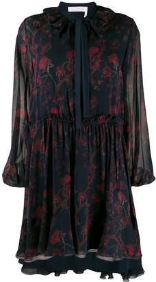 Chloé Floral Ruffled Dress