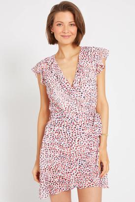 Abbeline Ruffle Sleeve Printed Mini Dress Multi S