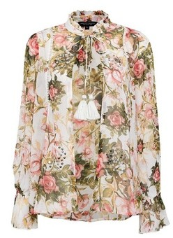 Dorothy Perkins Womens Multi Colour Floral Print Sequin Cover Up