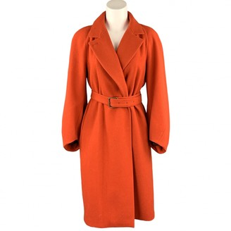 Dries Van Noten Orange Wool Coats