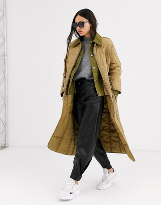 ASOS double layer long line padded coat