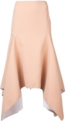 Maticevski High-Waited Asymmetric Skirt