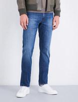 SLOWEAR Slim-fit straight stretch-denim jeans