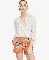 Ann Taylor Petite Coral Oasis City Shorts