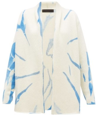 The Elder Statesman Tie-dye Cashmere Cardigan - Womens - Blue White