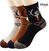 Zando Womens Cabin Wool Warm Cozy Casual Thin Mid Calf Socks 3 to 5 Pairs With Various Printing
