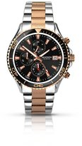 Sekonda Men's Quartz Watch with Black Dial Chronograph Display and Multi-Colour Stainless Steel Bracelet 1089.27