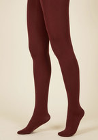 Accent Your Ensemble Tights in Merlot in L