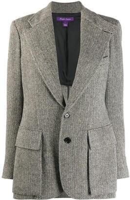 Ralph Lauren Collection Herringbone fitted blazer