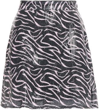 Olivia Rubin Libby Sequined Printed Georgette Mini Skirt