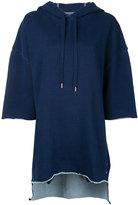 The Upside three-quarters sleeve loose-fit hoodie - women - Cotton - XXS