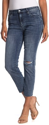 STS Blue High Rise Straight Leg Cut Off Ripped Jeans