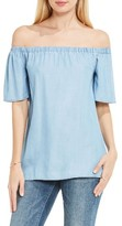 Women's Two By Vince Camuto Off The Shoulder Chambray Top