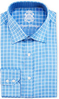 English Laundry Check Cotton Dress Shirt, Blue/White