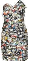 Moschino Printed Taffeta Mini Dress
