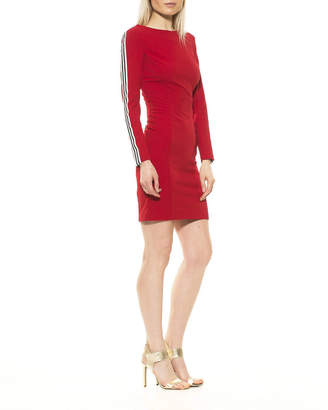 Alexia Admor Gemma Long-Sleeve Side Stripe Dress