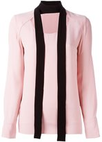 Marni cut out scarf blouse