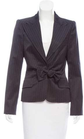 Gucci Wool Pinstripe Blazer