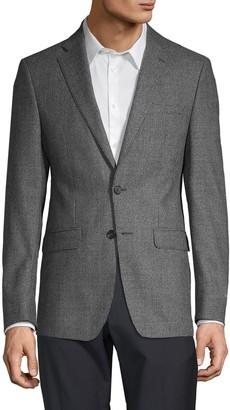 Calvin Klein Slim-Fit Houndstooth Wool Sportcoat