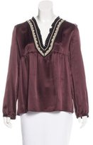 Barbara Bui Embroidered Silk Blouse