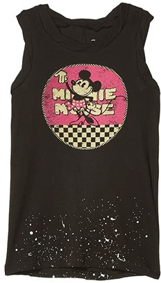 Chaser Minnie Mouse Retro Minnie Gauzy Cotton Muscle Tank (Toddler/Little Kids/Big Kids) (Vintage Black) Girl's Clothing