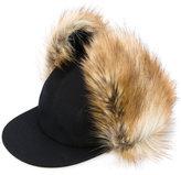 Sacai deerstalker hat - women - Polyester/Polyurethane/Wool - One Size
