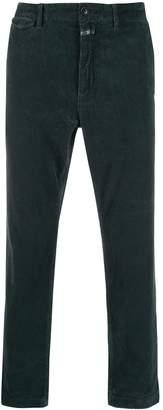 Closed corduroy straight leg trousers