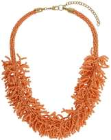 Coral Seedbead Collar