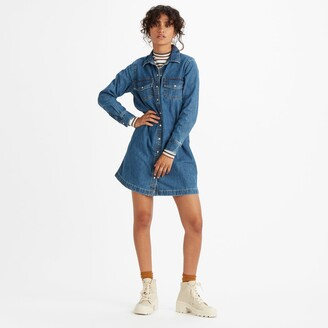 Levi's Long-Sleeved Denim Shirt Dress