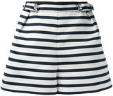 Carven striped shorts - women - Polyester/Acetate/Viscose - 36