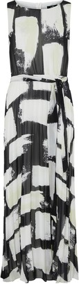 Wallis Monochrome Printed High Neck Maxi Dress