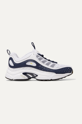 Reebok Daytona Dmx Ii Mesh And Leather Sneakers - White