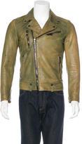 John Varvatos 2016 Acid Wash Leather Jacket