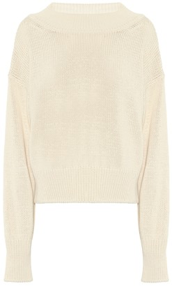 The Row Exclusive to Mytheresa Cristina cotton and cashmere sweater