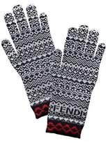 Fendi Heritage Wool-blend Gloves.