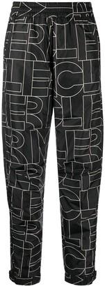 MONCLER GRENOBLE Monogram Logo Straight Leg Trousers