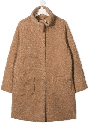 Il Gufo TEEN textured cotton coat
