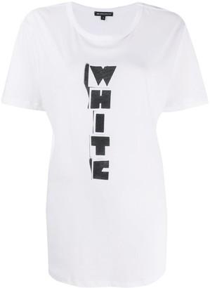 Ann Demeulemeester White print T-shirt